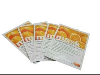 Beauty host orange hydrating brightening sheet mask
