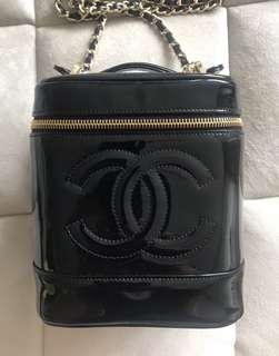 Chanel Patent Leather Vanity Case