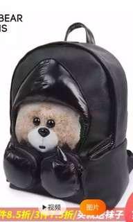 Danny Bear boxing bear back pack backpack black school bag trave beg sekolah