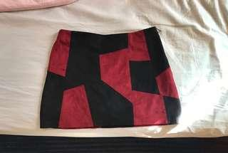A LINE SUEDE SKIRT