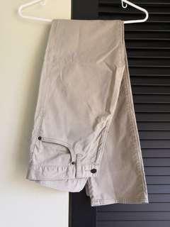 Uniqlo Long Pants - Beige color