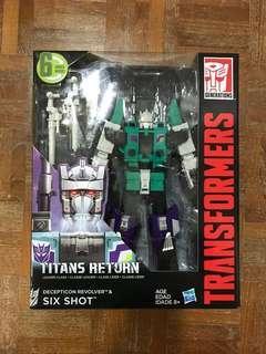 Transformers Titans Return Deception Sixshot &  Revolver