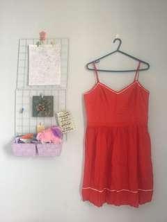 Lauren Conrad Orange Dress