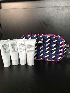 *Free by post* Estée Lauder perfectly Clean Multi-Action foam cleanser / purifying Mask 30ml x 4pcs + Free make up bag