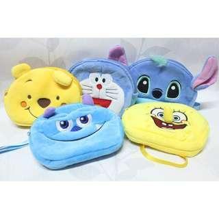 Spongebob, winnie the pooh, sully, doraemon Multipurpose pouch