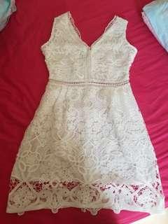 new one piece white dress 裙