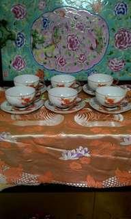 6 sets tea cups