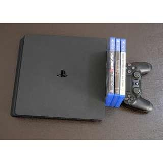 Sony PS4 Slim Complete with Games and PS PLUS Account