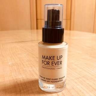 MAKE UP FOR EVER 緊緻粉底液 LIQUID LIFT FOUNDATION (只用過3次)