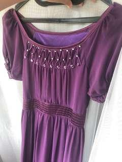 [PRELOVED - F] Purple Dress No Brand