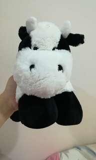 Fluffy Cow Beanie Plush