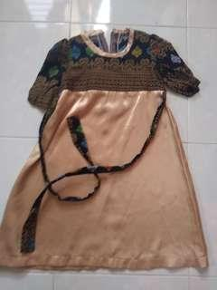 Jubah dress songket 1-2y