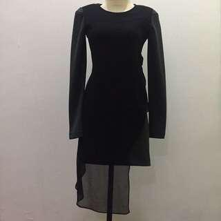 (X)SML Black-Grey Night Dress