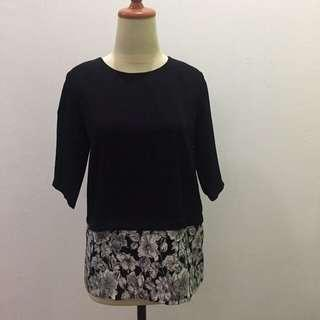 Esprise Black Flowery Blouse