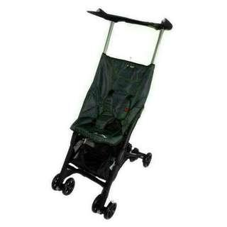 Brand new pockit stroller denim black reclinable with bagpack