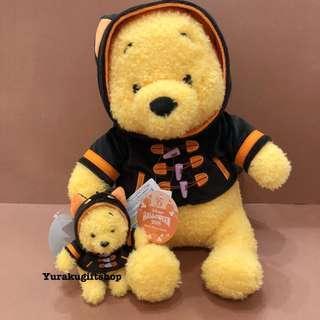 日本直送 18年萬聖節版 Winnie the Pooh 大公仔 迪士尼 小熊維尼