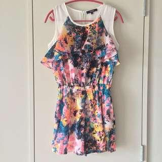 Othermix Rainbow Ruffle Playsuit Size M