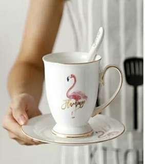 Pink Flamingo Cup Mug