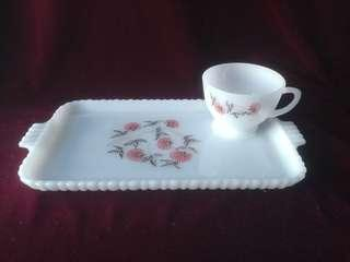 Fleurette Snack Set Anchor Hocking