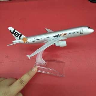 Jetstar Figurine Model A320 Plane Airlines