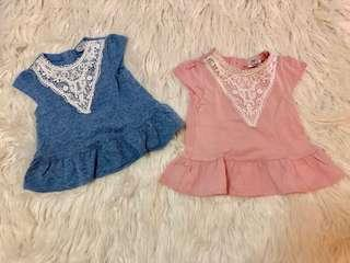 Super pretty and dainty baby blouses