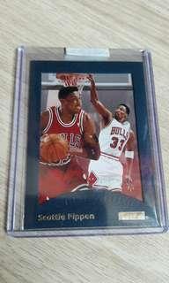 1995-96 E-XL A Cut Above Scottie Pippen NBA card