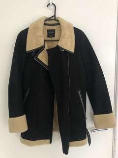 USED- Zara Sherpa coat