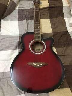 民謠木吉他(附背套、調音器)