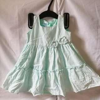 Mint Green Toddler Dress (Crib Couture)