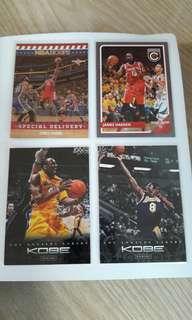 8pcs. NBA cards