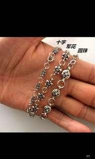 Inspired chrome hearts bracelet-cross