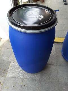 Water storage drums. HPDE, durable n lasting under rain n shine