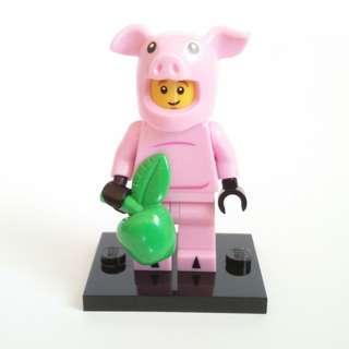 Lego Piggy Suit Guy Series 12 Minifigures 71007 Mascot Animal Suit Pig