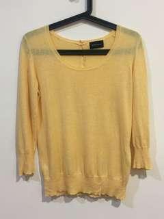 🚚 日牌 質感鵝黃針織衫