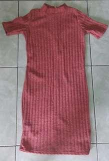 Fitted turtle neck dress