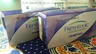 2 pcs monthly contact lens freshlook (-brown -power 6.50)