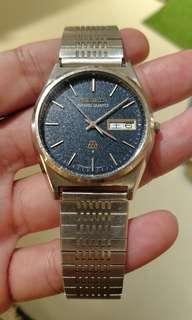 Vintage Grand Quartz 9943-8030 tropical navy dial twin quartz