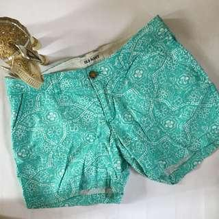 [SALE | OP: 300] Old Navy Mint Blue Green Printed Low Waist Shorts