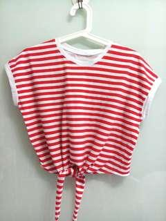 BN Red & White Top