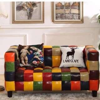 梳化 皮蜡 日式 北歐 梳化床 超靚 梳化 沙發 辦公室 椅 皮 181006
