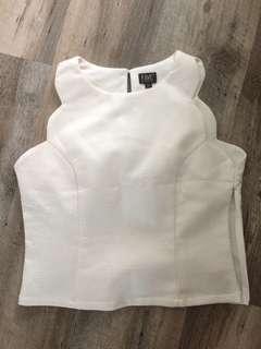 White Asymmetrical Top