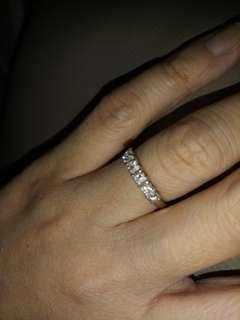 Genuine 18k Eternity Diamond Ring
