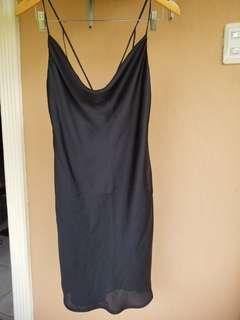 Bardot black slip dress,party dress,dinner dress