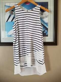 Forever new stripe blouse