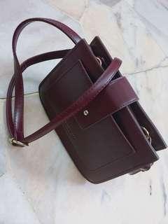 Wine red little bag