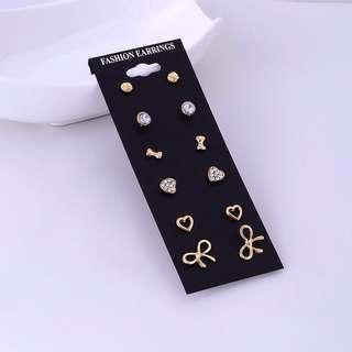 Earrings Set (6pairs/set) (Ribbon set)