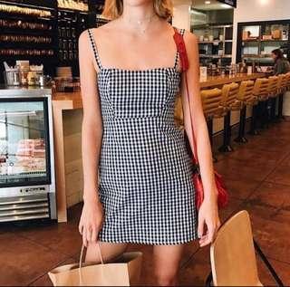 Black & White A-line Dress