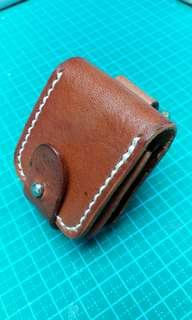 Handmade Cow Leather Zippos Pouch
