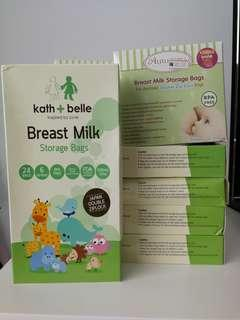 Breast milk storage bag