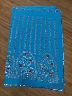 Blue chiffon Saree with sequins brand new
